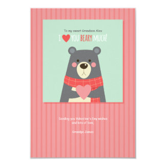Valentine Bear Holiday Card