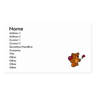 Valentine Bear Pack Of Standard Business Cards
