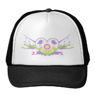 Valentine Bird Flower Heart Hat
