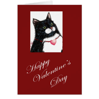 Valentine Birthday cat Card