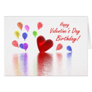 Valentine Birthday Celebration Greeting Card