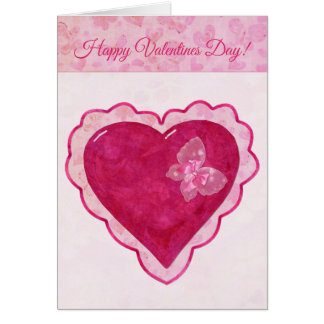 Valentine Blossoms Adorable CUSTOM GREETING Card