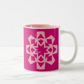 """Valentine """"brownie in a mug"""" recipe gift Two-Tone mug"""
