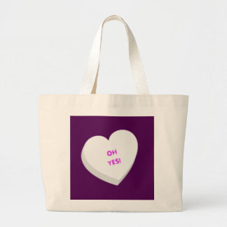 Valentine Candy Heart - White Tote Bags