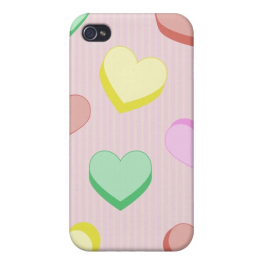 Valentine Candy Hearts  Cases For iPhone 4