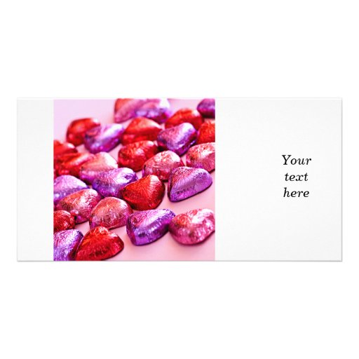 Valentine candy personalized photo card