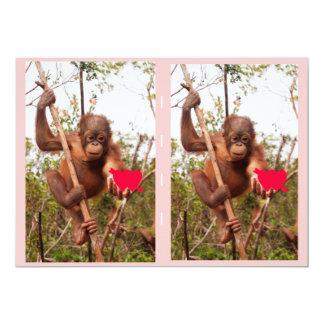 "Valentine Cards for Children 5"" X 7"" Invitation Card"