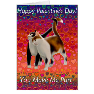 Valentine Cats Card