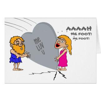 Valentine Caveman Greeting Card