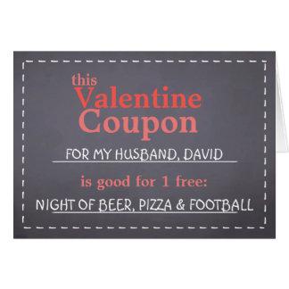 Valentine Chalkboard Coupon Card