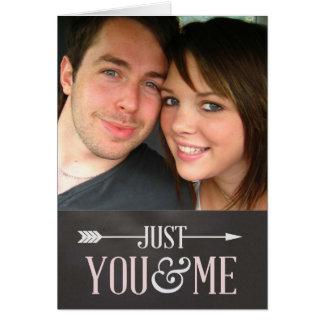 Valentine Chalkboard - Just You & Me custom photo Card