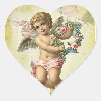 Valentine Cherub Heart Sticker