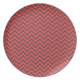 Valentine Chevron Pattern Party Plates