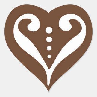 Valentine Chocolate Heart Stickers © 2011 M. Martz