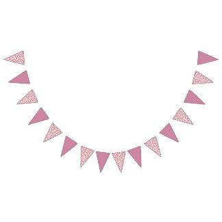 Valentine Cookie Collage Bunting Flags