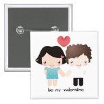 Valentine Couple Buttom Pins