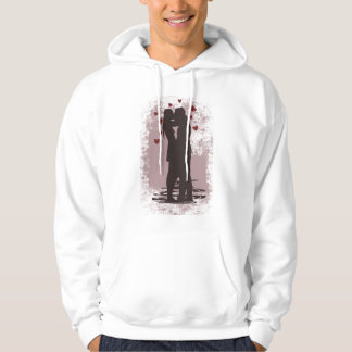 valentine couple hooded pullover