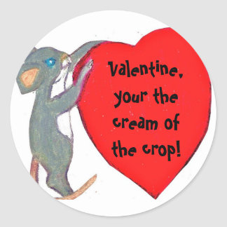 VALENTINE, CREAM OF THE CROP stickers