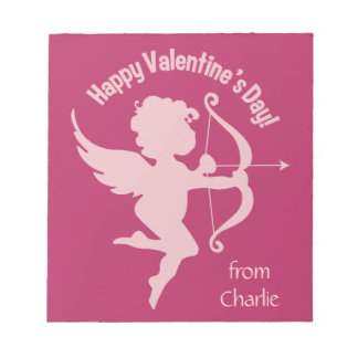 Valentine Cupid custom name notepad