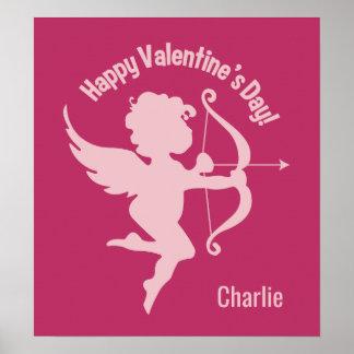 Valentine Cupid optional name poster