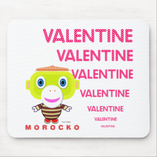 Valentine-Cute Monkey-Morocko Mouse Pad