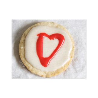 """Valentine"" Cutout Cookie jjhélène Fine Art Canvas"