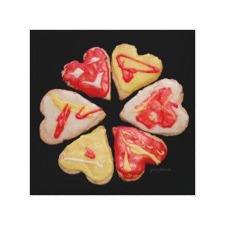 """Valentine"" Cutout Cookie jjhélène Fine Art Canvas Print"