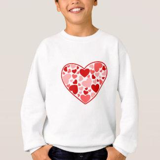 Valentine Day Hearts in Heart Sweatshirt