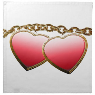 Valentine day love chain with hearts napkin