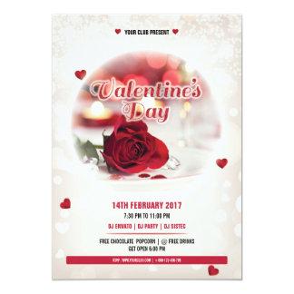 Valentine day party invitation card