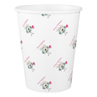 Valentine Day Poster Paper Cup