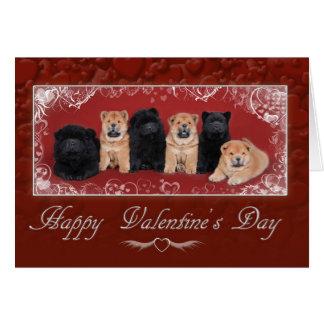 Valentine de bouffe de bouffe carte de vœux