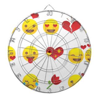 Valentine Emojis Dartboard