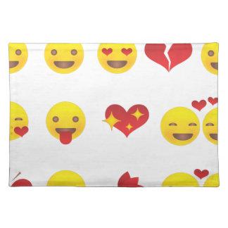 Valentine Emojis Placemat
