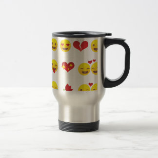 Valentine Emojis Travel Mug