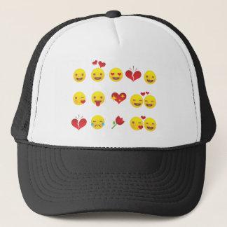 Valentine Emojis Trucker Hat