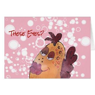 Valentine Flirty Fish Art Card