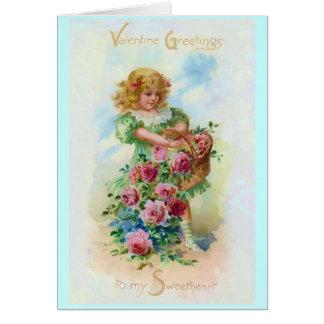 Valentine Flower Girl Card