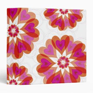 Valentine Flower Love Hearts Binder