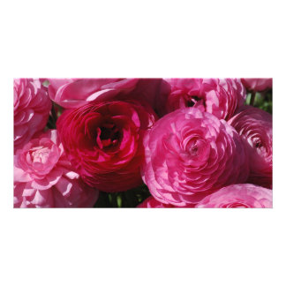 VALENTINE FLOWERS PHOTO GREETING CARD