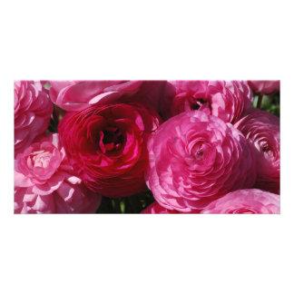 VALENTINE FLOWERS PHOTO GREETING CARD