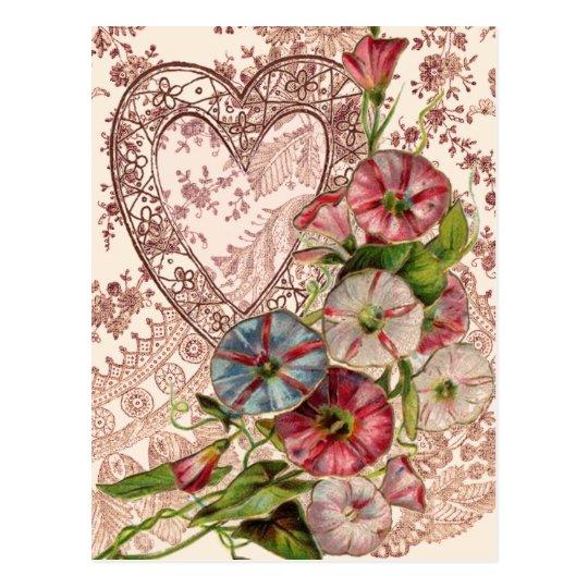 Valentine Flowers Postcard