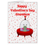Valentine for Grandson Greeting Card