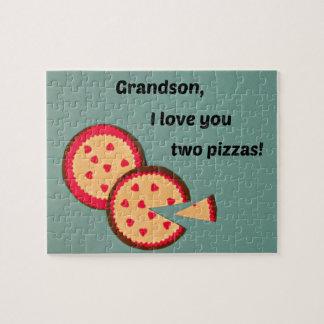 Valentine for Grandson - Pizza humor Jigsaw Puzzle