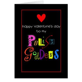 Valentine for Polish female Card
