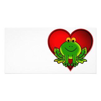 Valentine Frog Photo Greeting Card