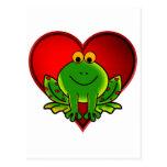 Valentine Frog Post Cards