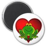 Valentine Frog Refrigerator Magnets