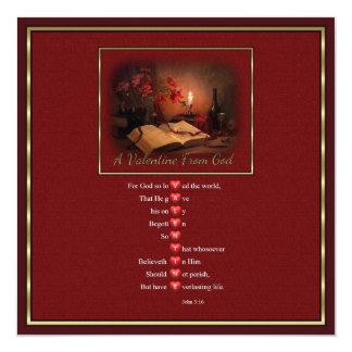 Valentine From God Customizable square Invitation