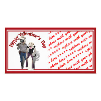 Valentine from the Old West Dogs Photo Card Template